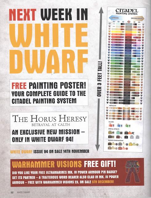 Adelanto de la White Dwarf Weekly número 94 de noviembre