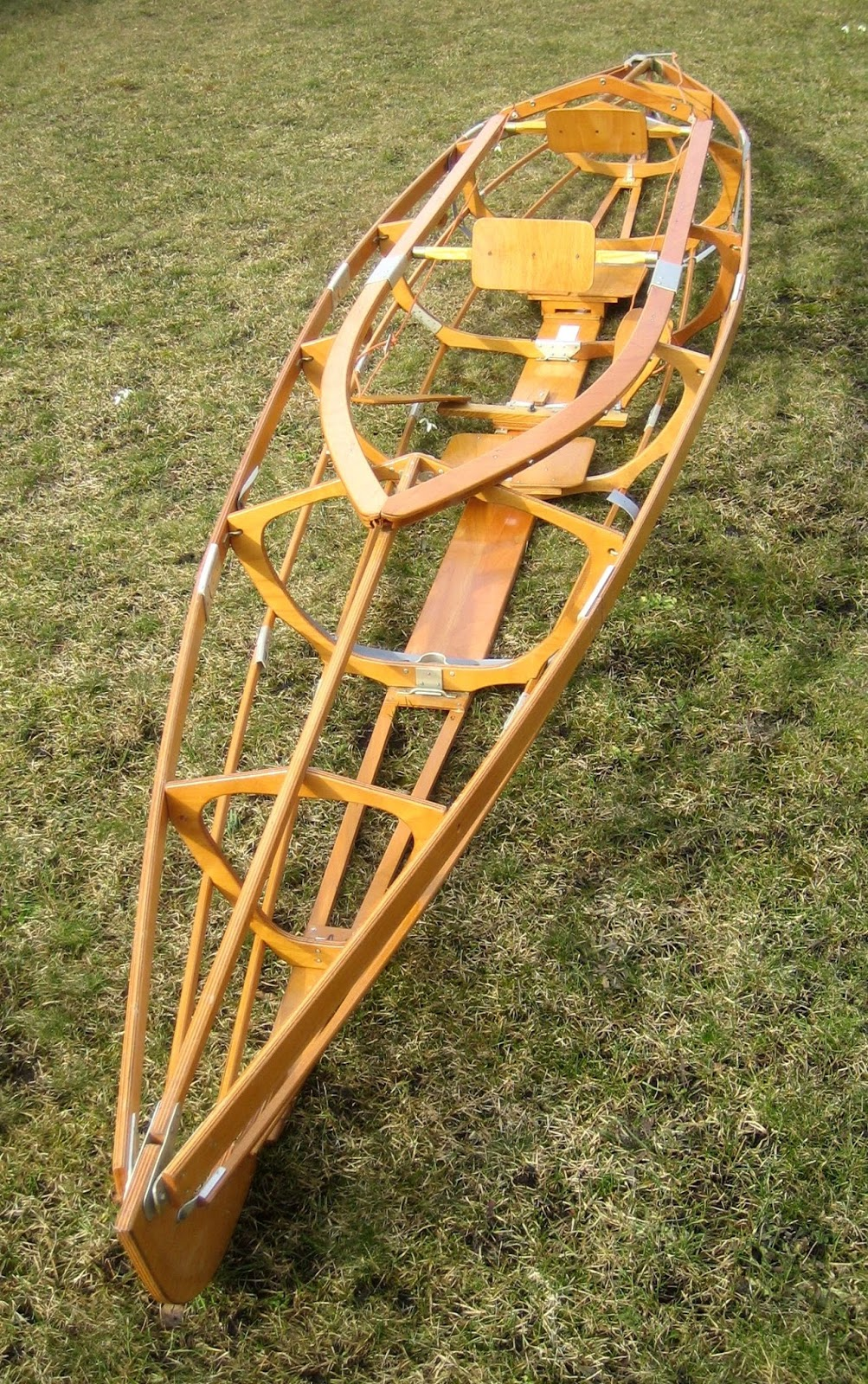 Frame of a Klepper folding kayak. The sections are similar to those of