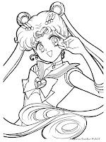Lembar Mewarnai Gambar Sailor Moon