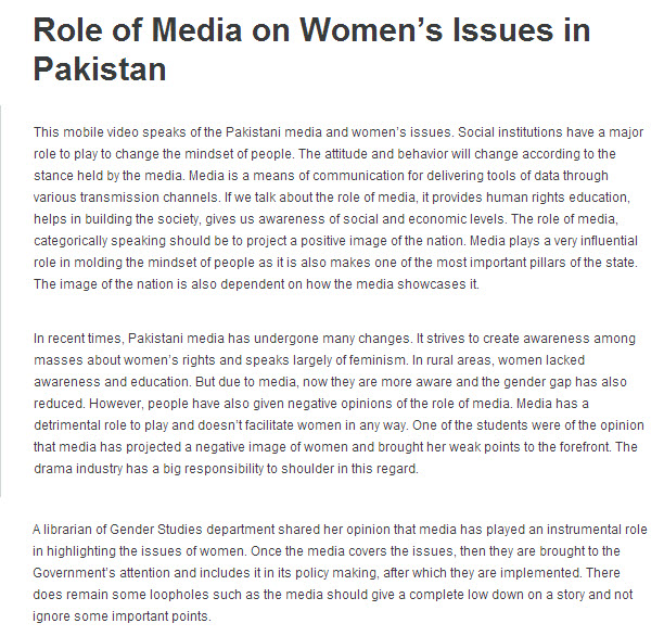women issues in pakistan