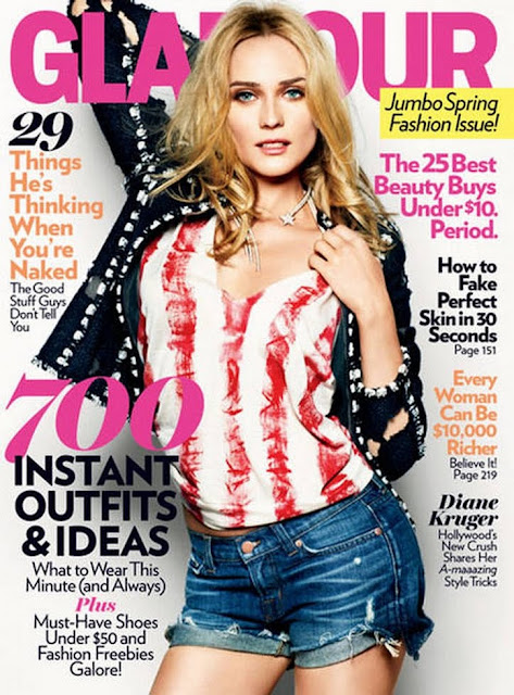 Diane Kruger Glamour US Pics March 2011