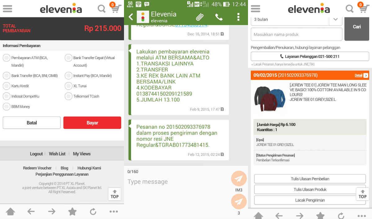Cara Belanja di Aplikasi Android Elevenia di ASUS Zenfone 6