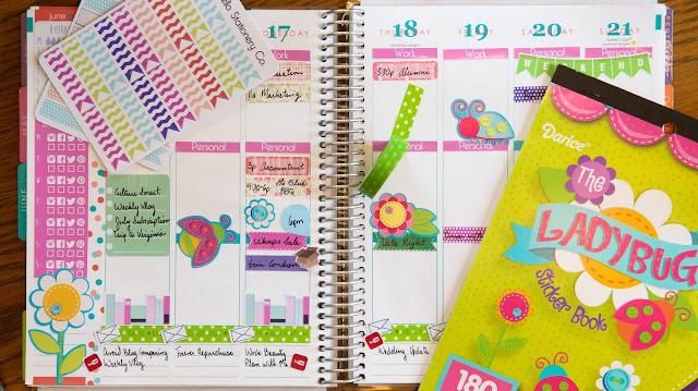 Plan with Me   Ladybug Button Theme