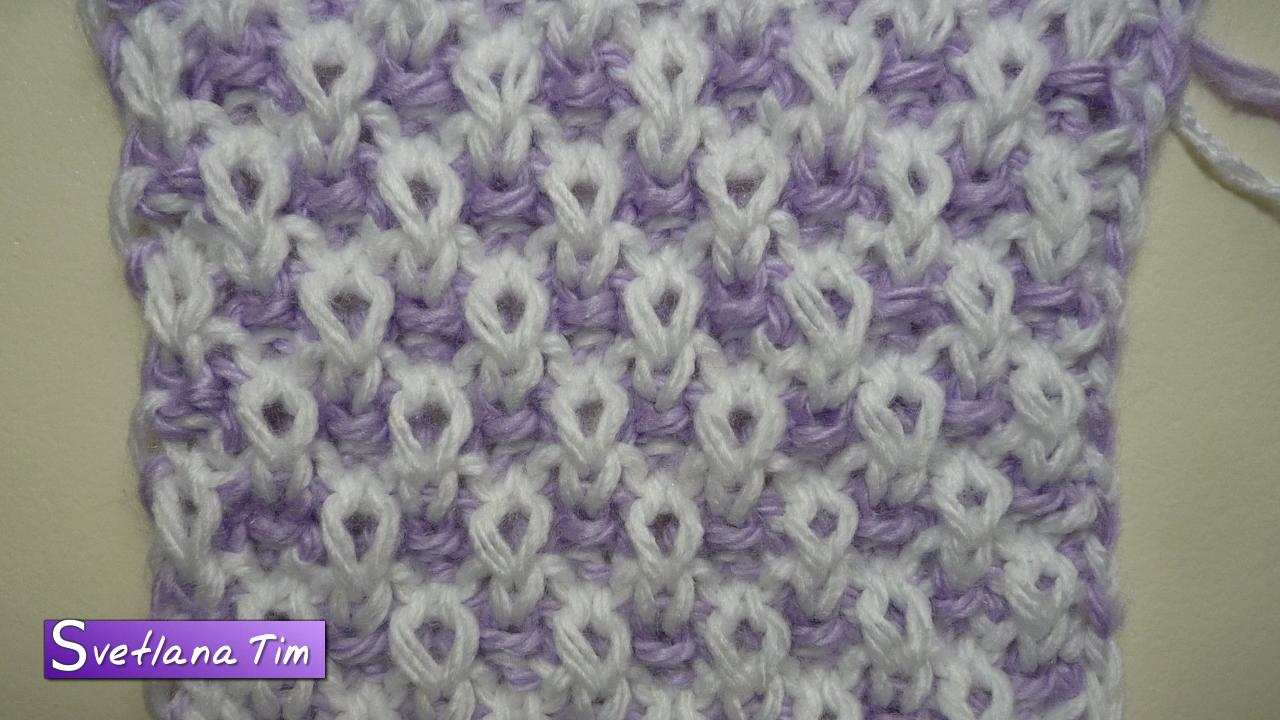 двухсторонние узоры спицами для шарфа со схемами
