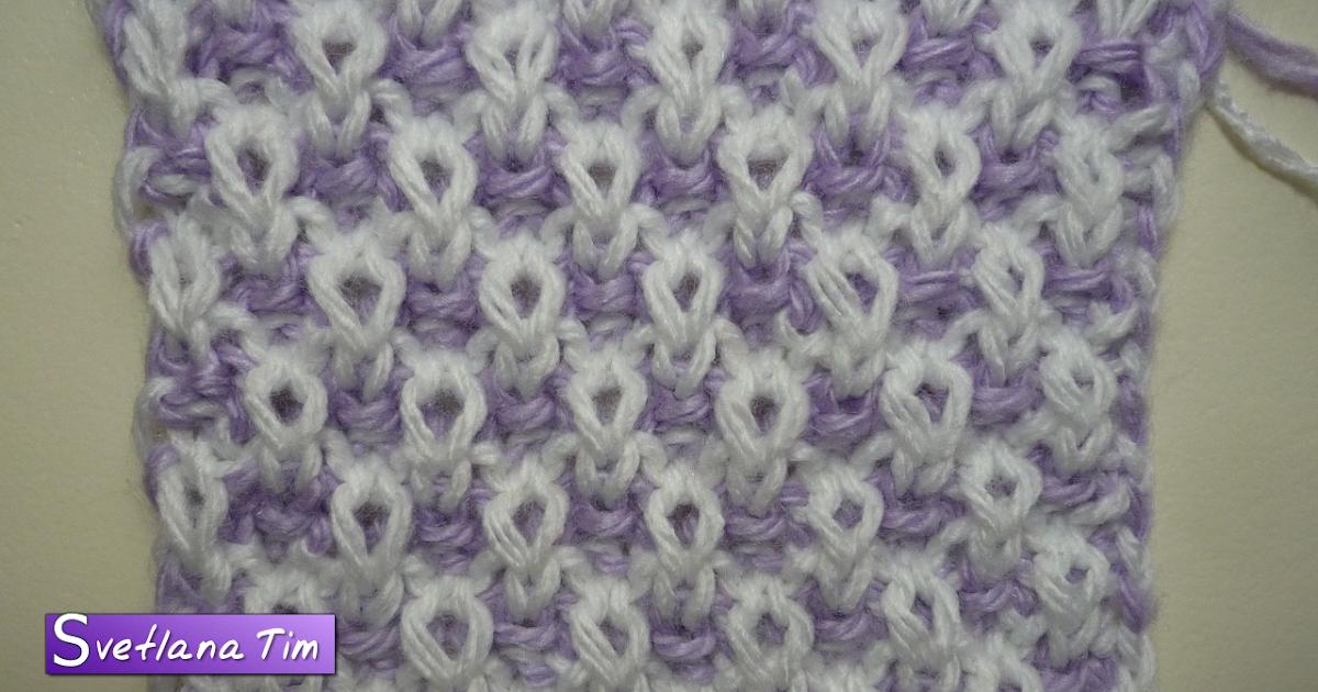 Вязание ленивые узоры схемы два цвета