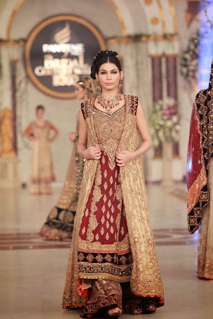 Aisha Imran - Pakistani Bridal Fashion at Pantene Bridal Couture Week 2013 PBCW Lahore