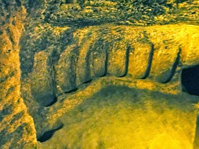 Wine cellar at Kaymakli Underground City Cappadocia Turkey