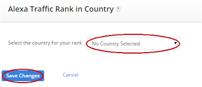 how to show your country in alexa