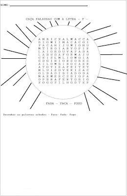 Exercícios de Alfabetização - Atividades para Alfabetização Três