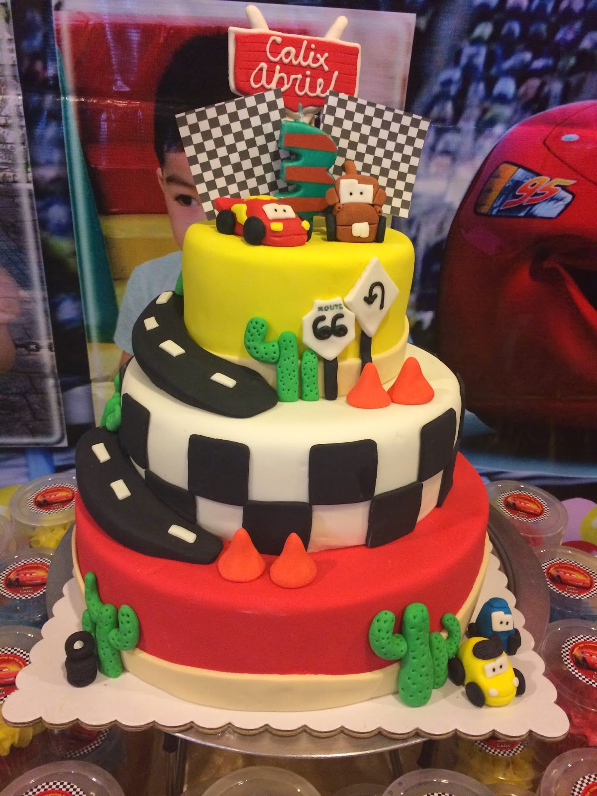 Disney Pixar Cars Cake Design : Disney Pixar Cars Themed Cake Kiddie Affairs Custom Cakes