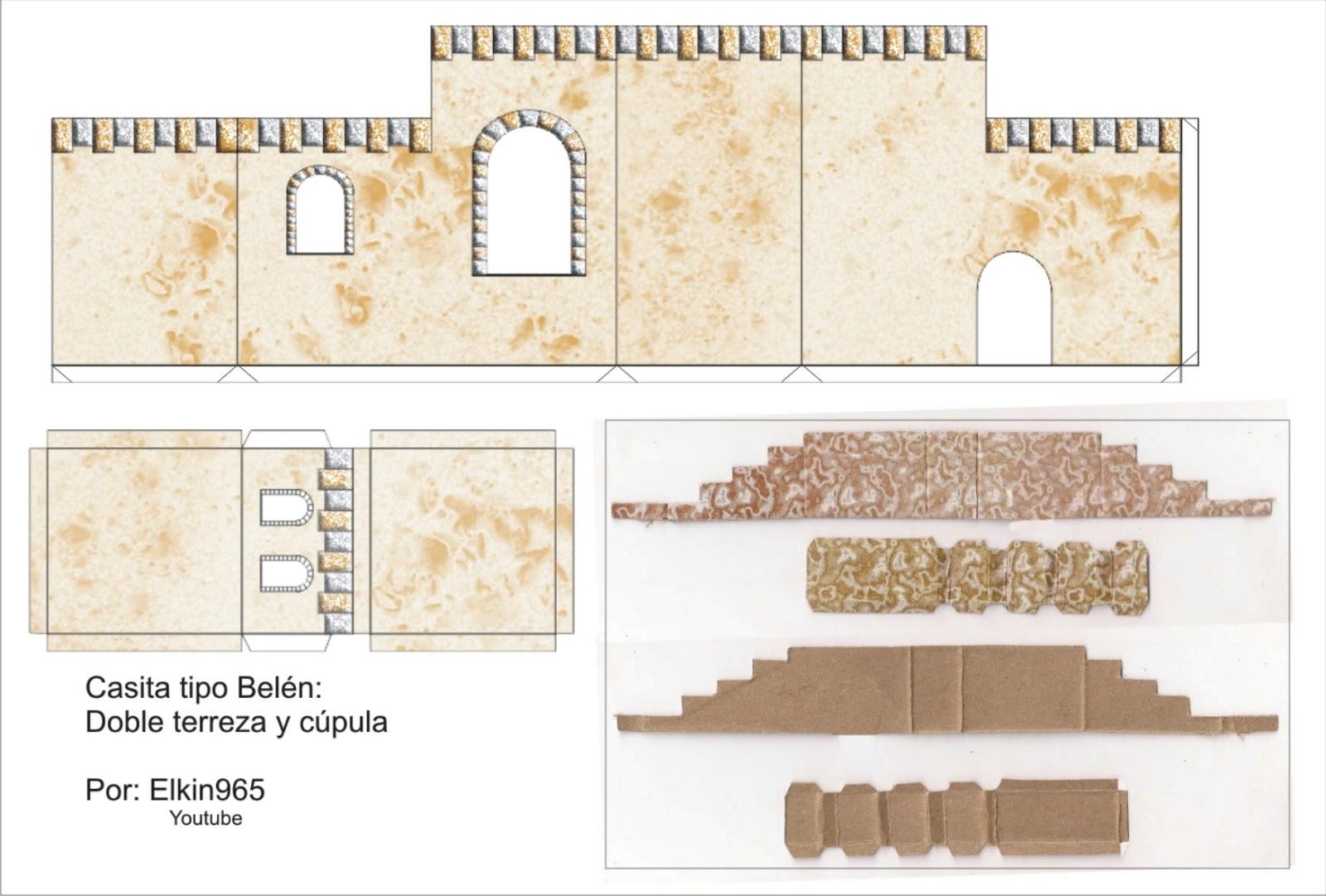 Elkin creaciones casita para pesebre tipo bel n en carton - Casitas de nacimientos de navidad ...