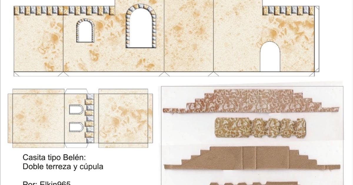 Elkin creaciones casita para pesebre tipo bel n en carton - Casitas para pesebre de carton ...