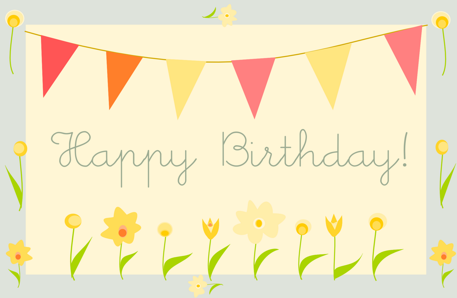 Simple Birthday Cards Printable ~ Free printable happy birthday greeting card quot gartenparty ausdruckbare geburtstagskarte