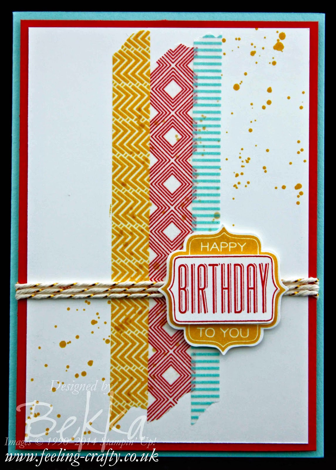 Birthday Card for a Man using Tag talk from Stampin' Up! UK Independent Demonstrator Bekka - check her blog for lots of great ideas