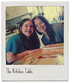 everything happens at the kitchen table…