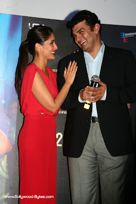 Kareena Kapoor and prodcer of the Heroine Movie Trailer launch