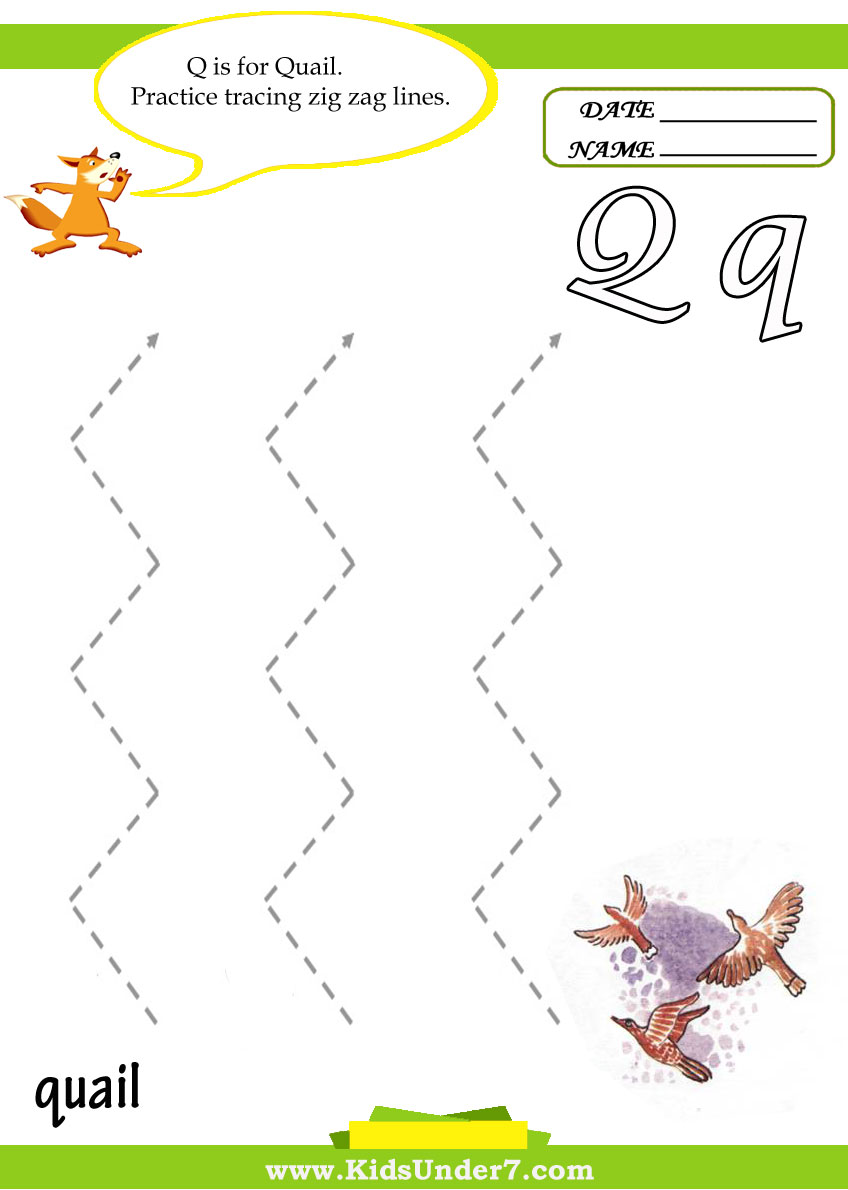 Kids Under 7 Letter Q Worksheets – Letter Q Worksheet