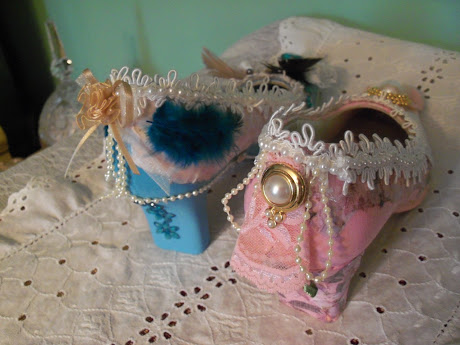 Back View of Shabby Chic Shoes