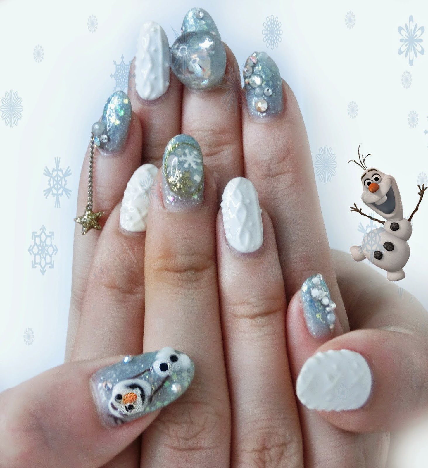 Nails Olaf X Christmas By Shiningnails Golly Locks