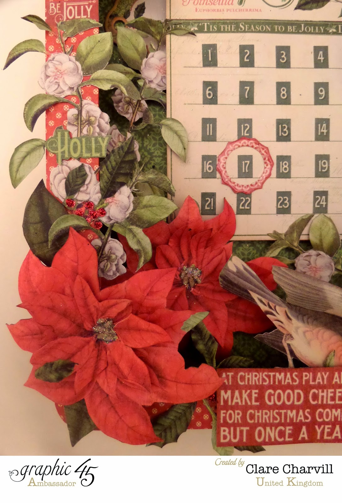 Time to Flourish Countdown to Christmas Advent Calendar 7 Clare Charvill Graphic 45