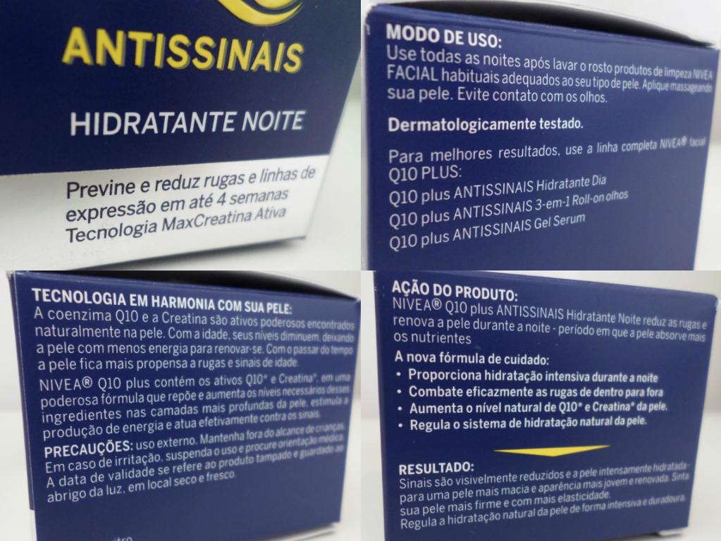 q10 plus antissinais hidratante noite