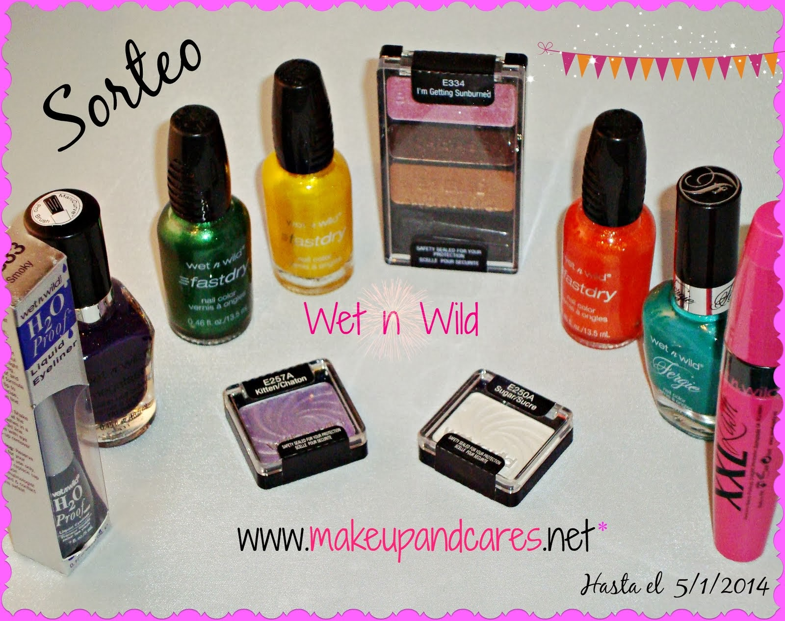 Sorteo de un lote de 10 productos de Wet n Wild