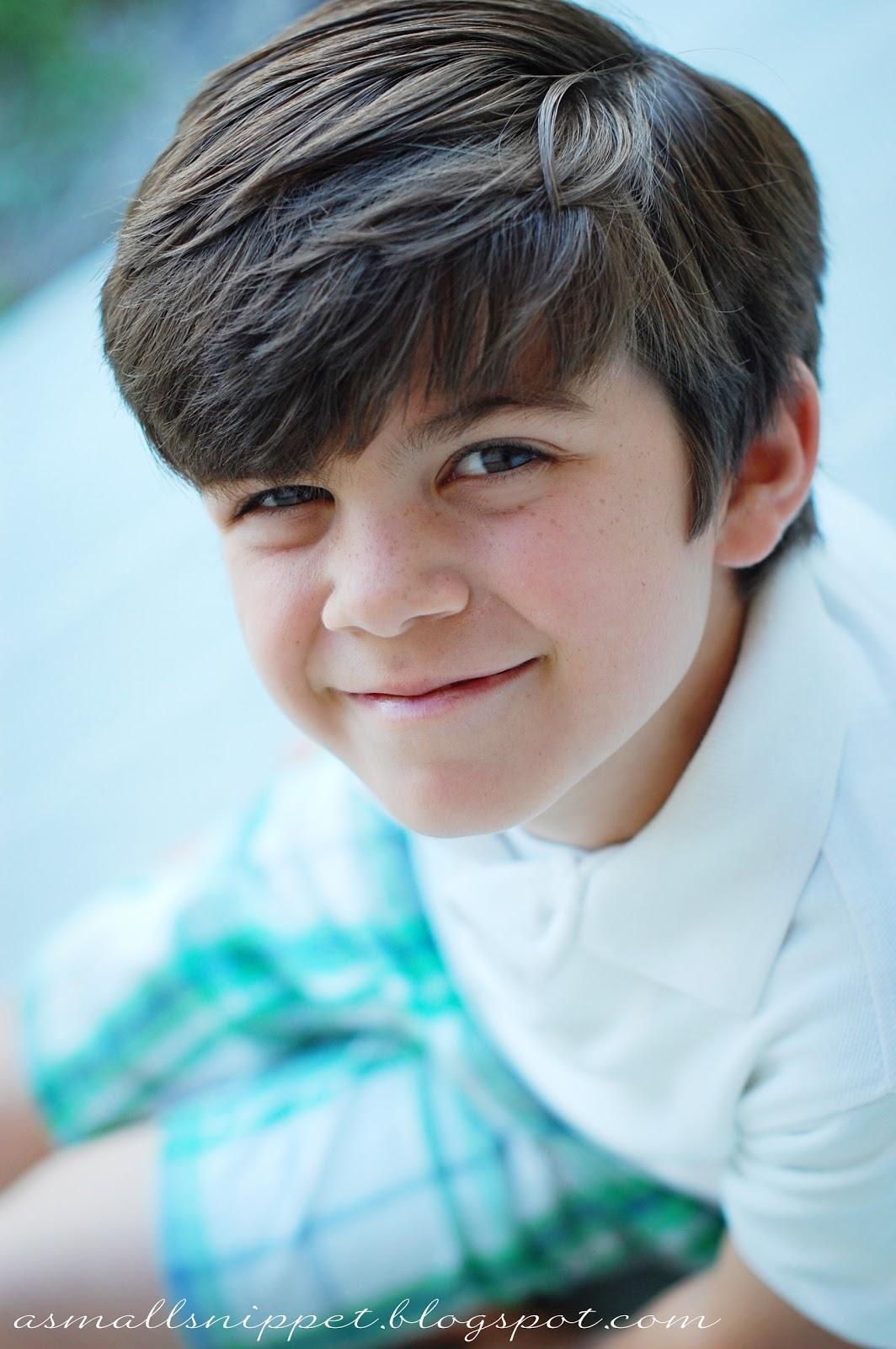 Cute 9 year old boy