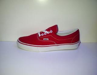 Sepatu Vans Era Import  merah murah