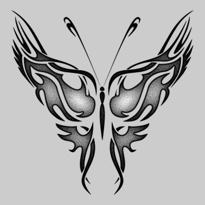 Tribal Vector Butterfly Tattoos