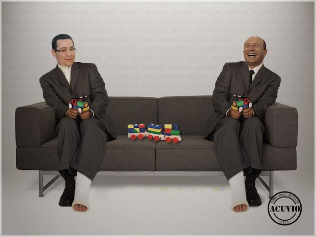 Privatizarea CFR Marfă – Funny Victor Ponta şi Traian Băsescu