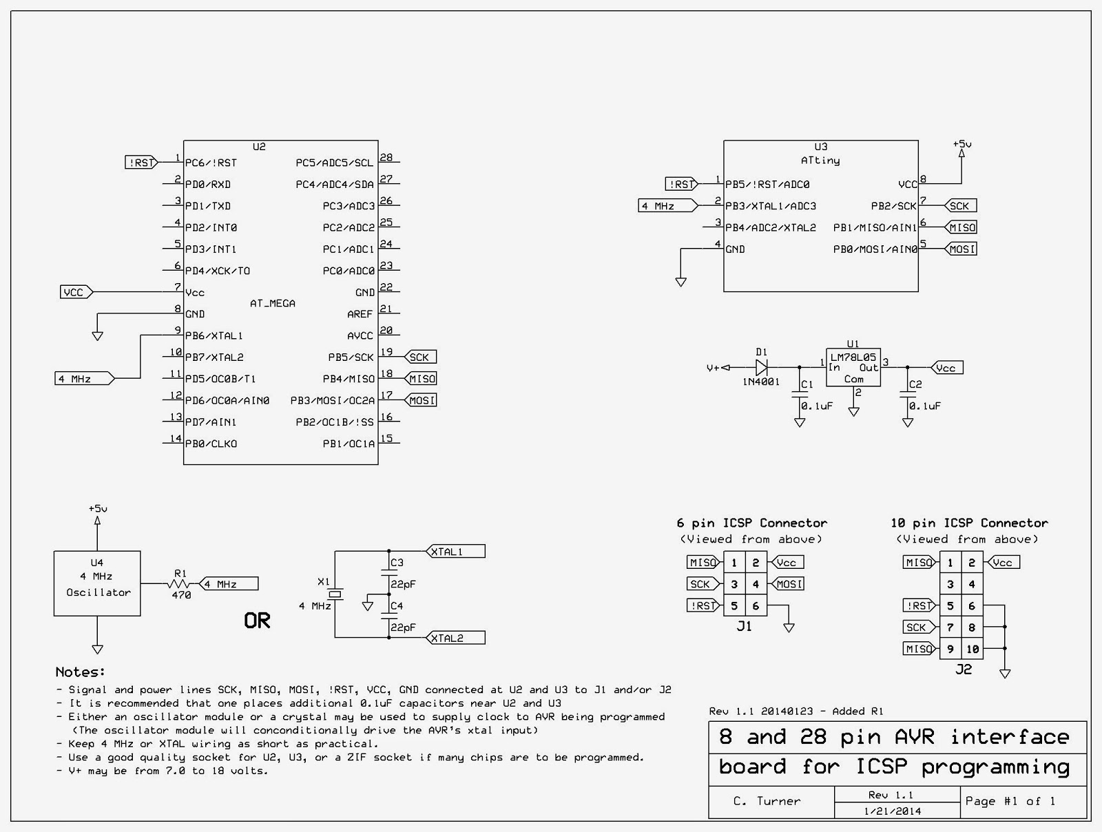 Ka7oeis Blog Atmel Avr Minimus Based Timer And Solid State Relay Control For Uv Schematic Diagram Of The Icsp Interface Board Click On Image A Larger Version