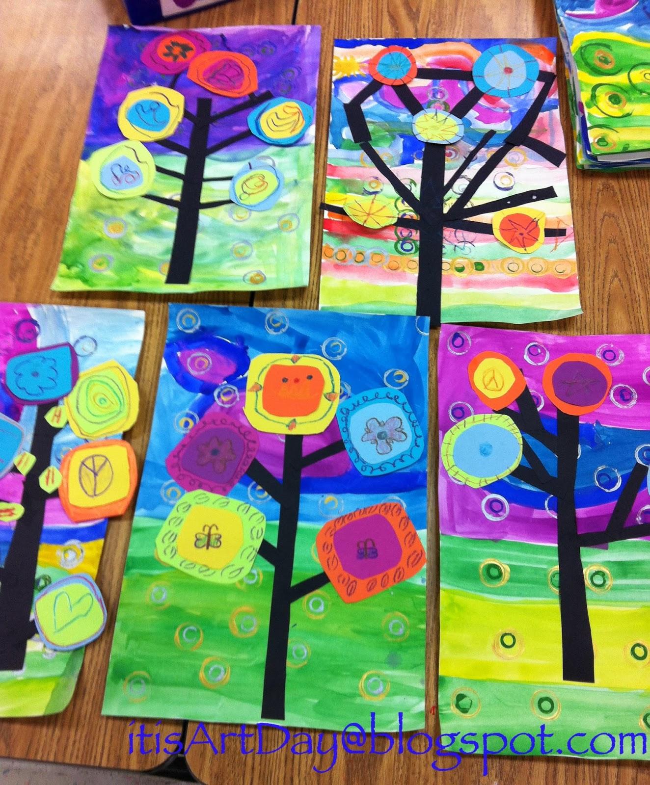 Art Lessons : It s art day kandinsky trees