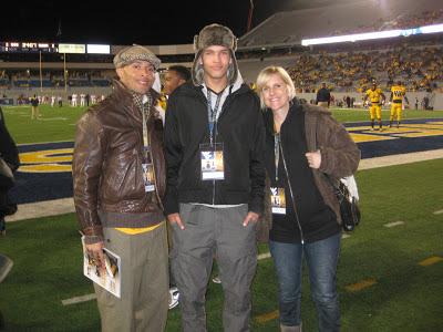 Adrick Ceaser, Derek Kief, Kelly Kief unofficial visit to WVU game