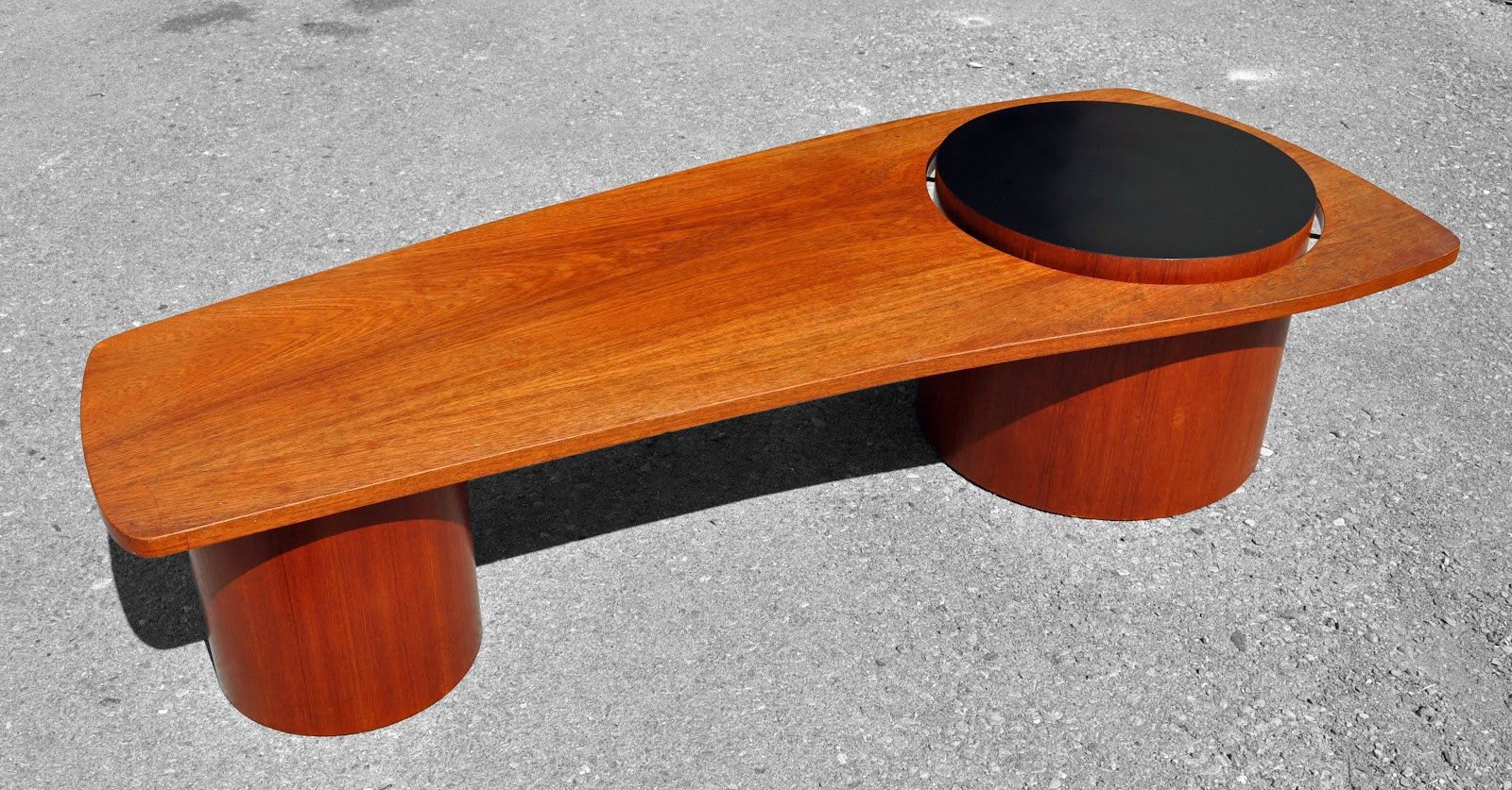 Antiques On Kent Sold Mid Century Teak Barrel Style Coffee Table