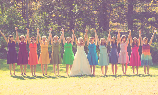 Miss)adventures of the Missus: Mismatched Bridesmaid Dresses