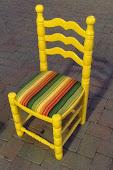 Vintage Chair Bright Yellow Fun Repurposed $69