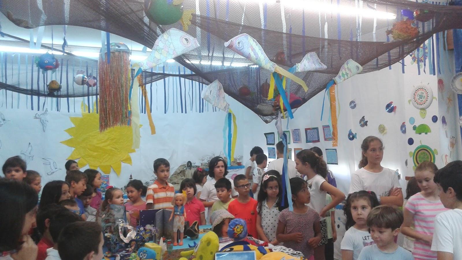 Apadrinamiento lector en la mar de arte biblioteca for Decoracion aula primaria