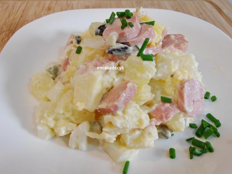 En casa de c y k ensalada alemana de patatas y salchichas - Ensalada alemana de patatas ...