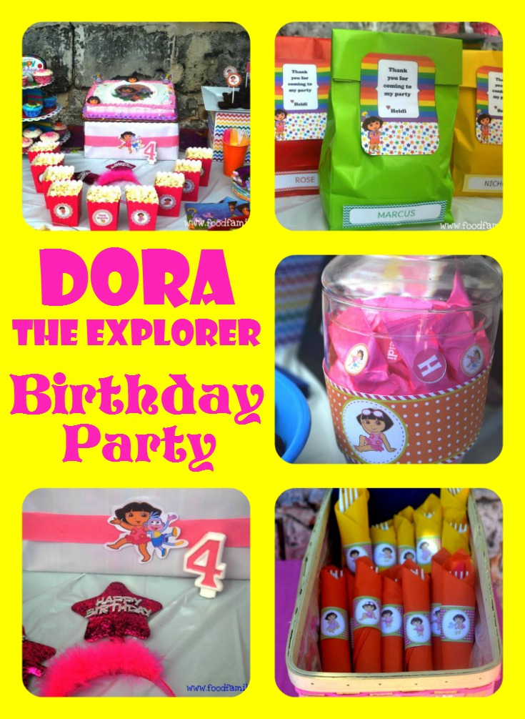 Food, Family, Fun.: Dora the Explorer Birthday Party (on a budget!)
