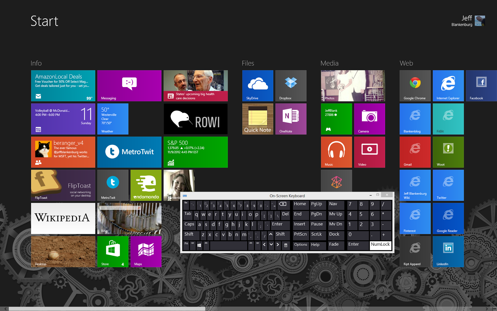 windows 8 keyboard