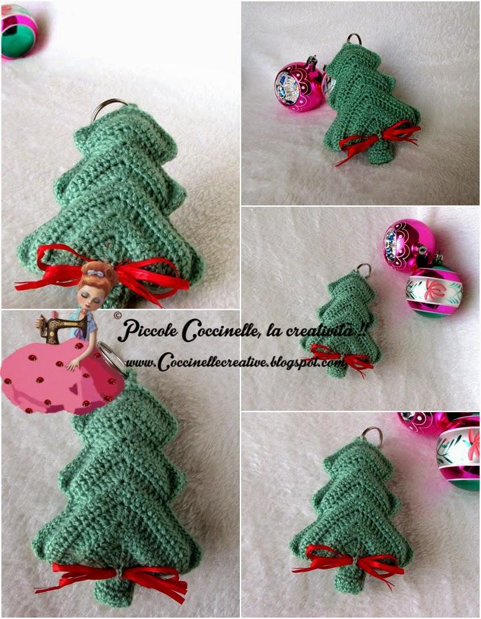 Piccole coccinelle la creativit ciondolo albero di for Addobbi natalizi all uncinetto