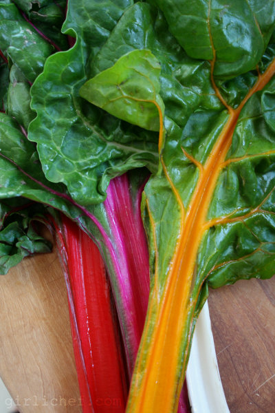 girlichef: Stir-Fried Rainbow Chard