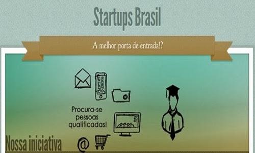 Startups Brasil te ajuda a conseguir emprego.