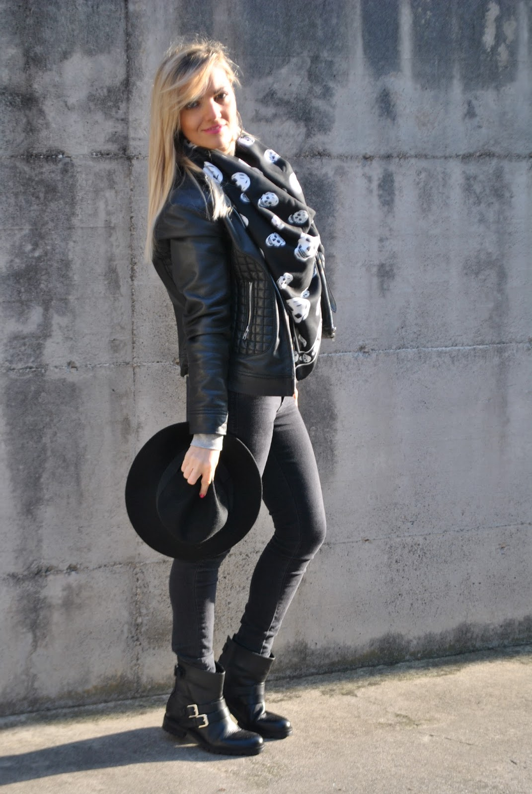 Popolare Color-Block By FelyM.: OUTFIT: SKINNY BLACK JEANS AND FEDORA HAT  WA25