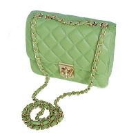 Must Have Item! (Candy- Colored Sheepskin Leather Bag with Chain Plum Lock)