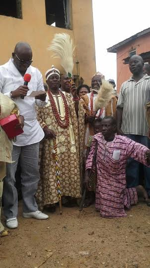 Fayose donates N500,000 and a new Okada to a crippled cobbler