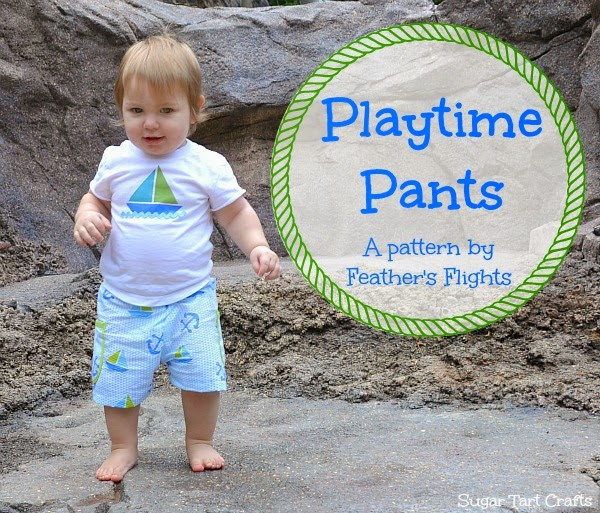 Playtime Pants sewing pattern by Feather's Flights