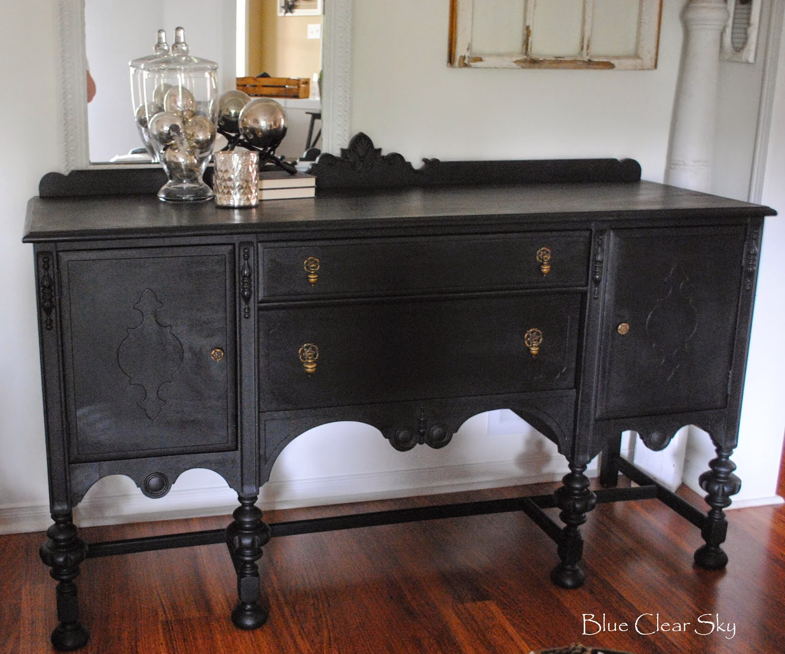 Rustic Maple: General Finishes Lamp Black Vintage Sideboard