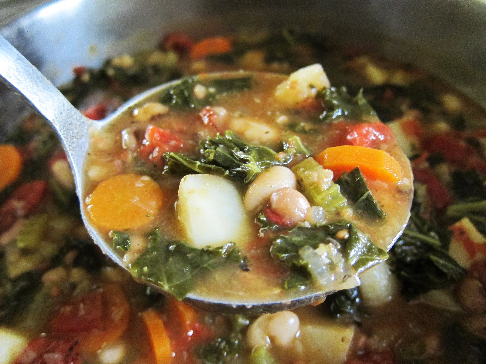 how to cook kale in soup