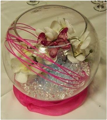 Bowl Decorating Ideas Captivating Luxury Wedding Fish Bowl Decorations Ideas With Flowers  Home Inspiration